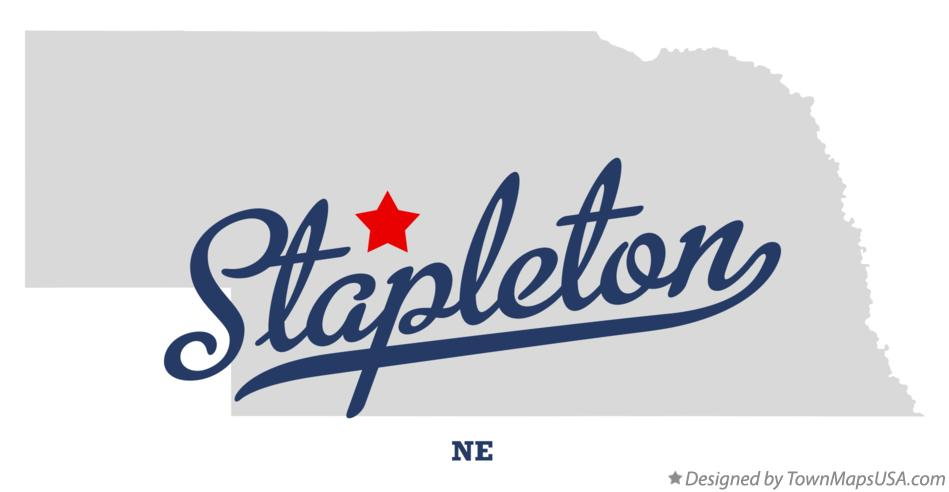 Map of Stapleton Nebraska NE