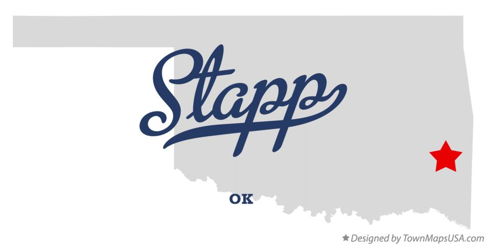 Map of Stapp Oklahoma OK