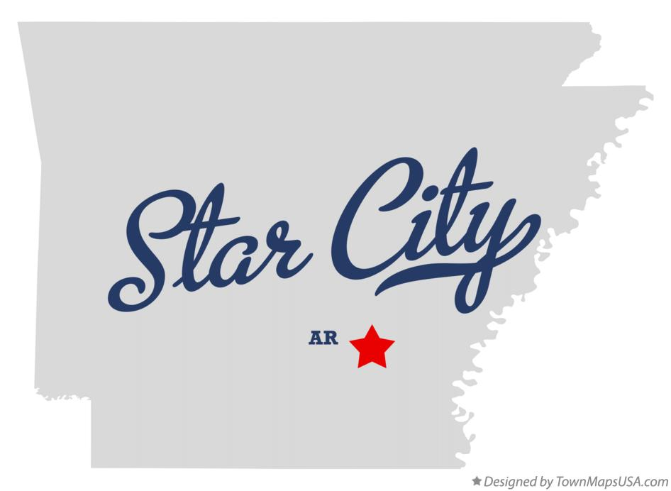 Map of Star City Arkansas AR