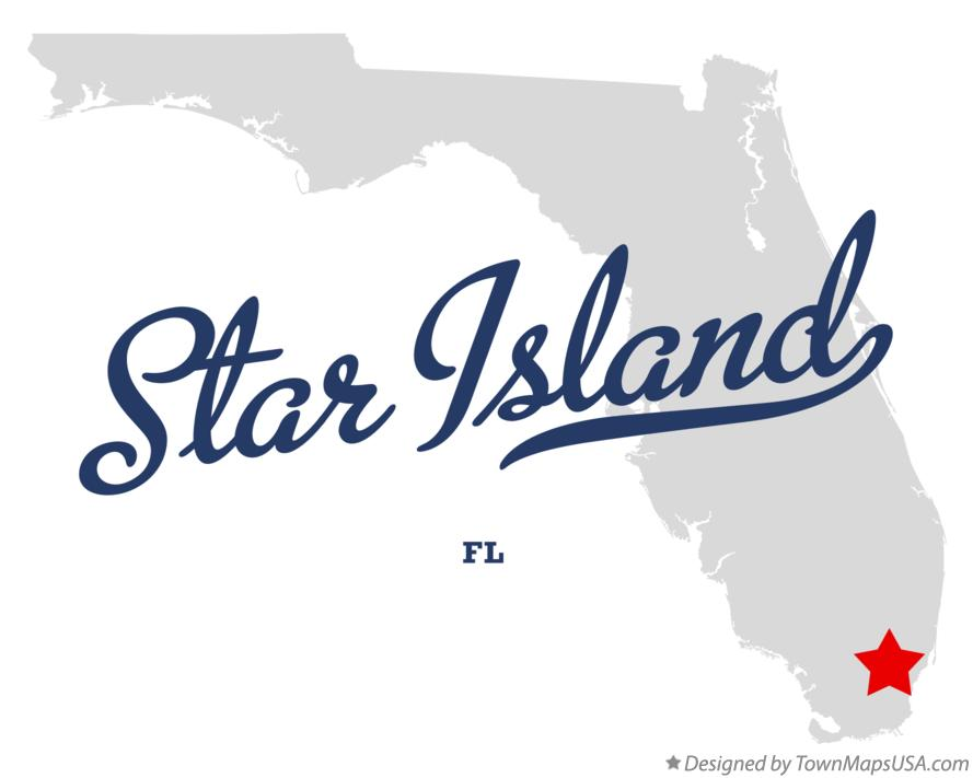 Map of Star Island Florida FL