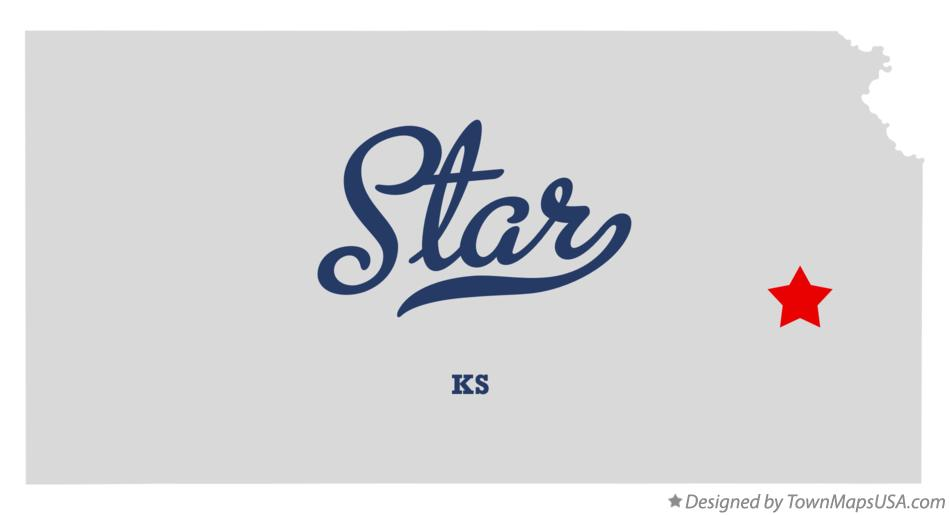 Map of Star Kansas KS