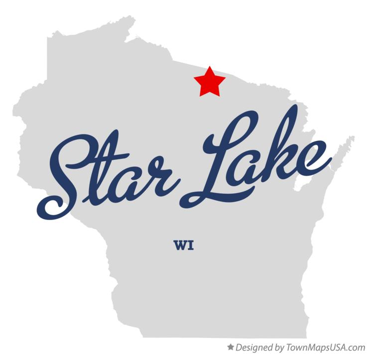 Map of Star Lake Wisconsin WI