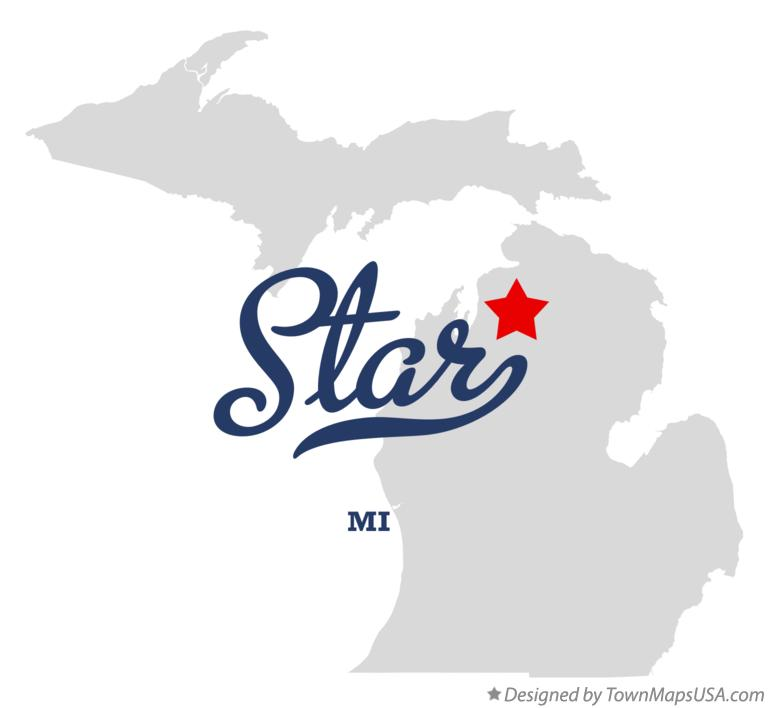 Map of Star Michigan MI