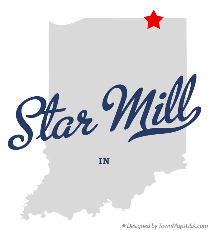 Map of Star Mill Indiana IN