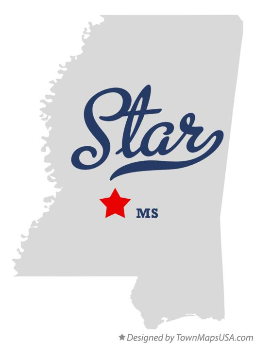 Map of Star Mississippi MS