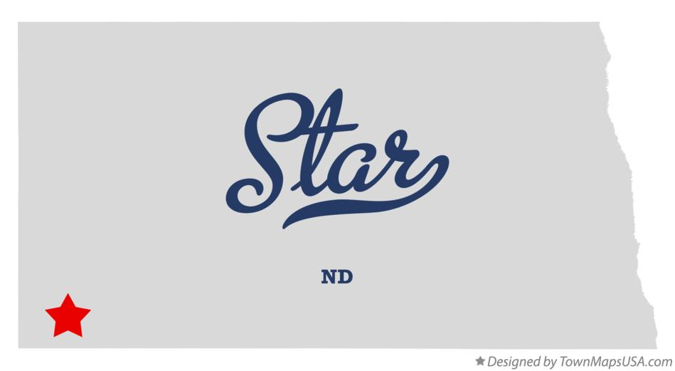 Map of Star North Dakota ND