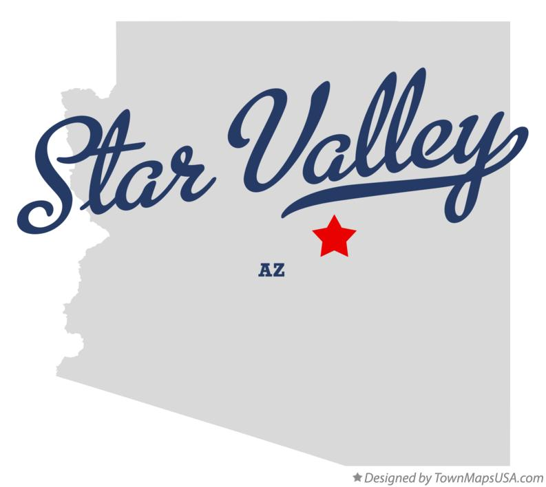 Map of Star Valley Arizona AZ
