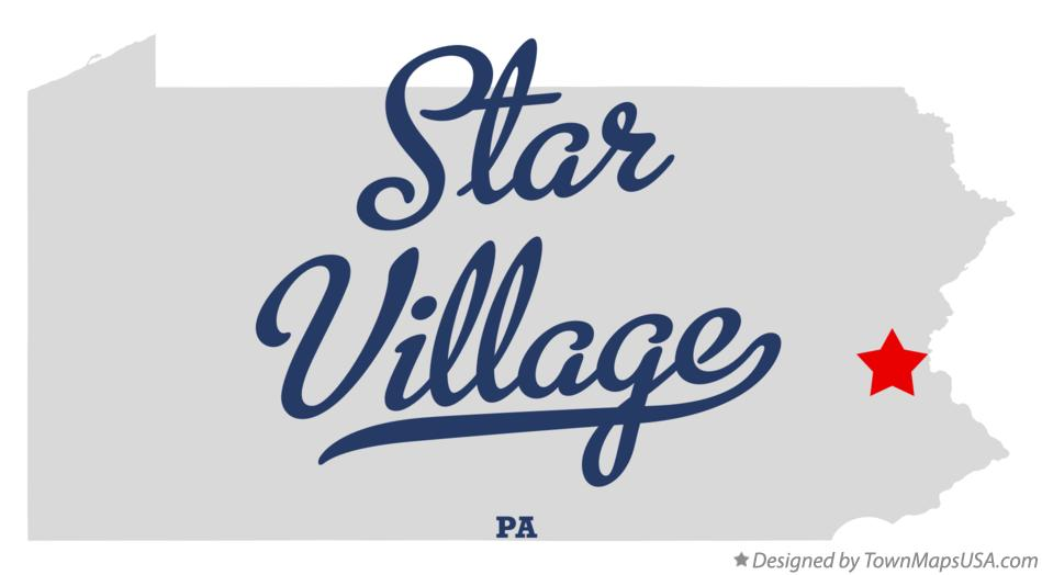 Map of Star Village Pennsylvania PA