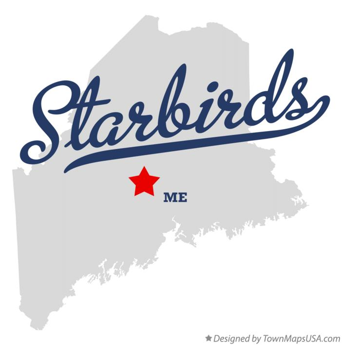Map of Starbirds Maine ME