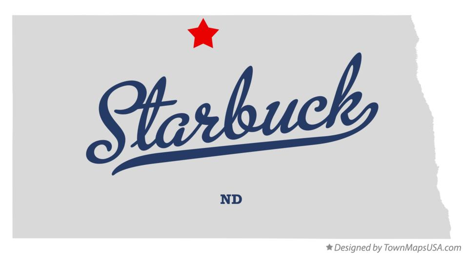 Map of Starbuck North Dakota ND