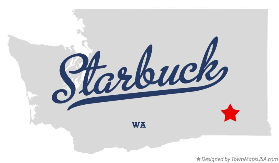 Map of Starbuck Washington WA