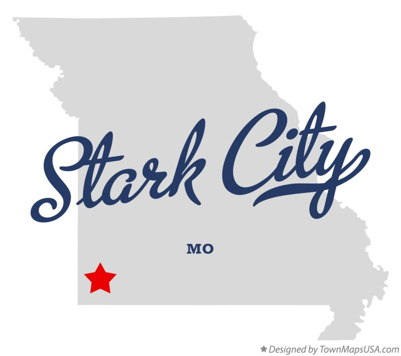 Map of Stark City Missouri MO