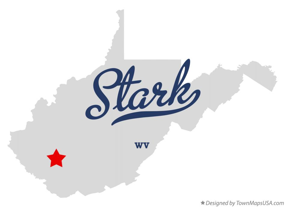 Map of Stark West Virginia WV