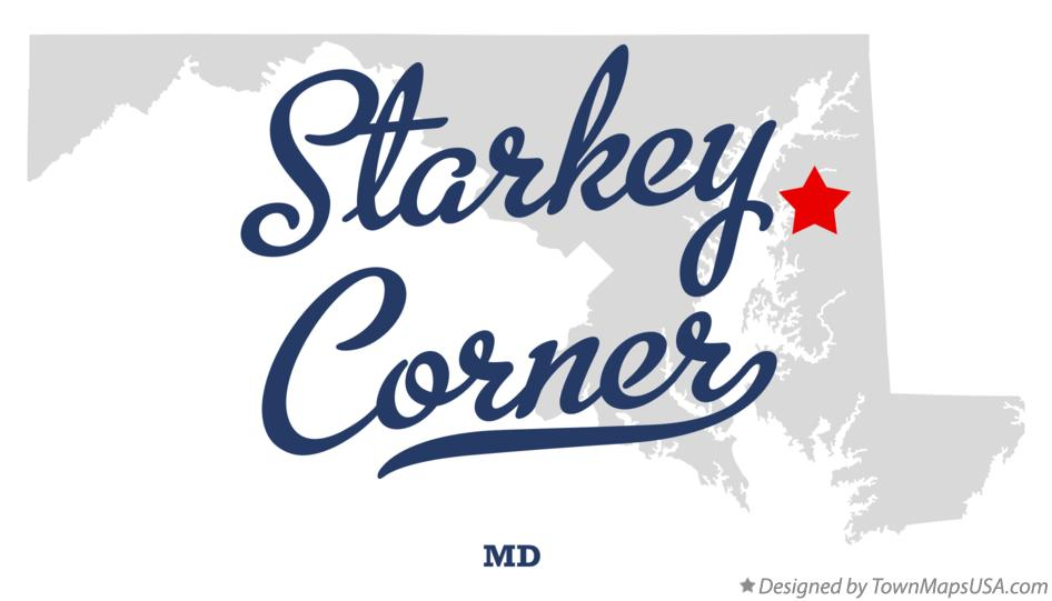 Map of Starkey Corner Maryland MD