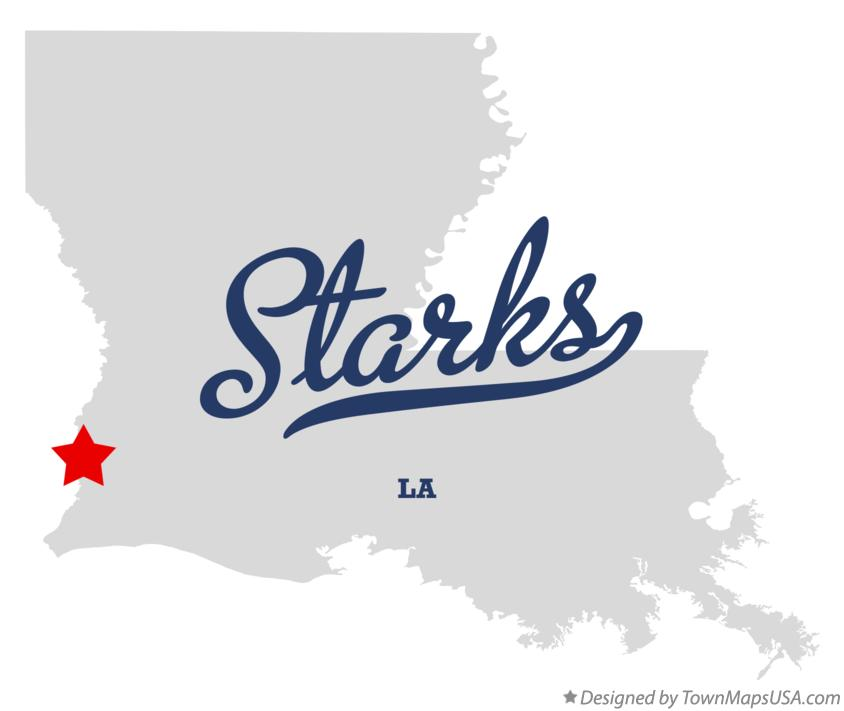 Map of Starks Louisiana LA