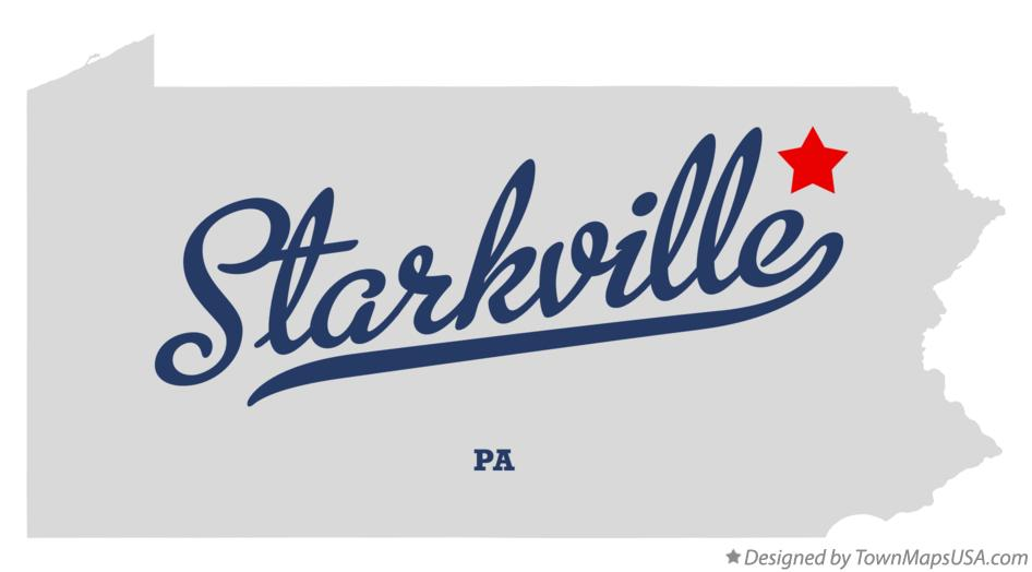Map of Starkville Pennsylvania PA