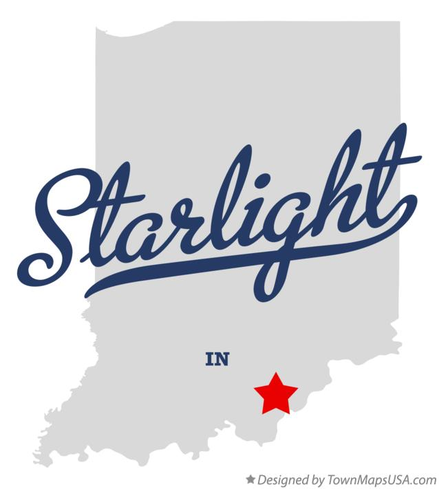 Map of Starlight Indiana IN