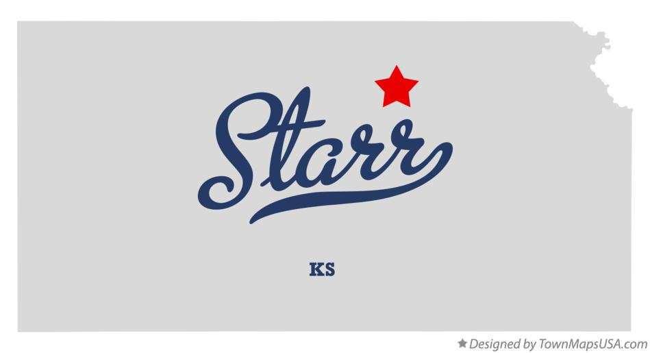Map of Starr Kansas KS
