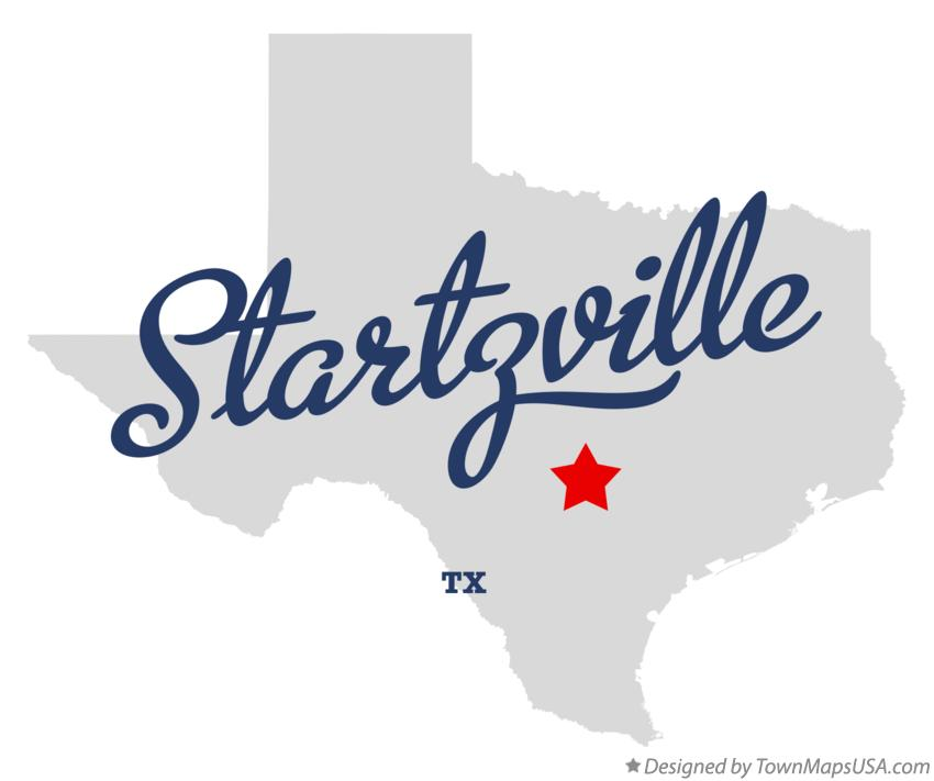 Map of Startzville Texas TX