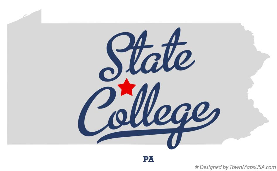 Map of State College PA Pennsylvania