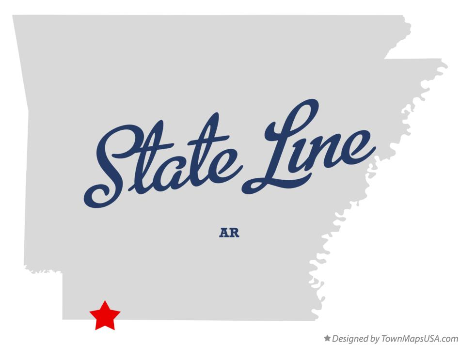 Map of State Line Arkansas AR