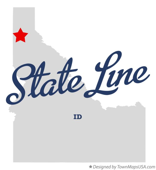 Map of State Line Idaho ID