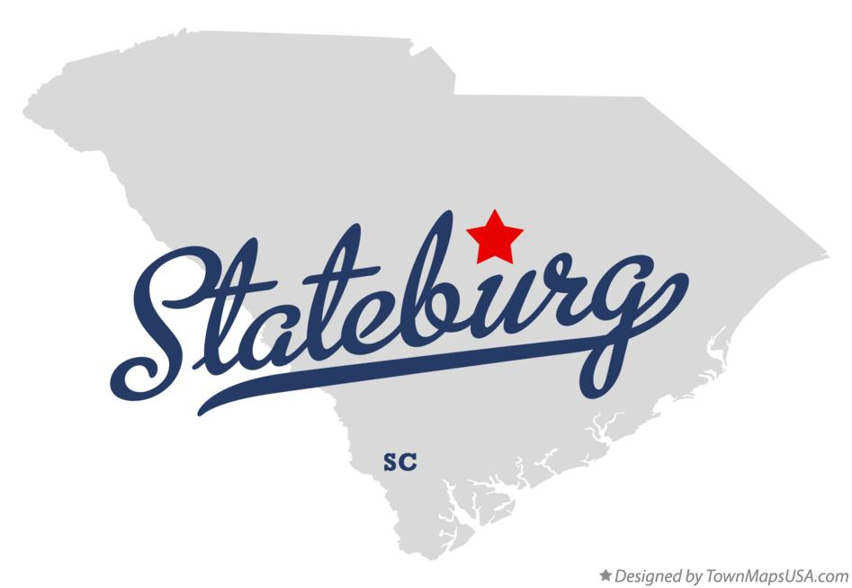 Map of Stateburg South Carolina SC