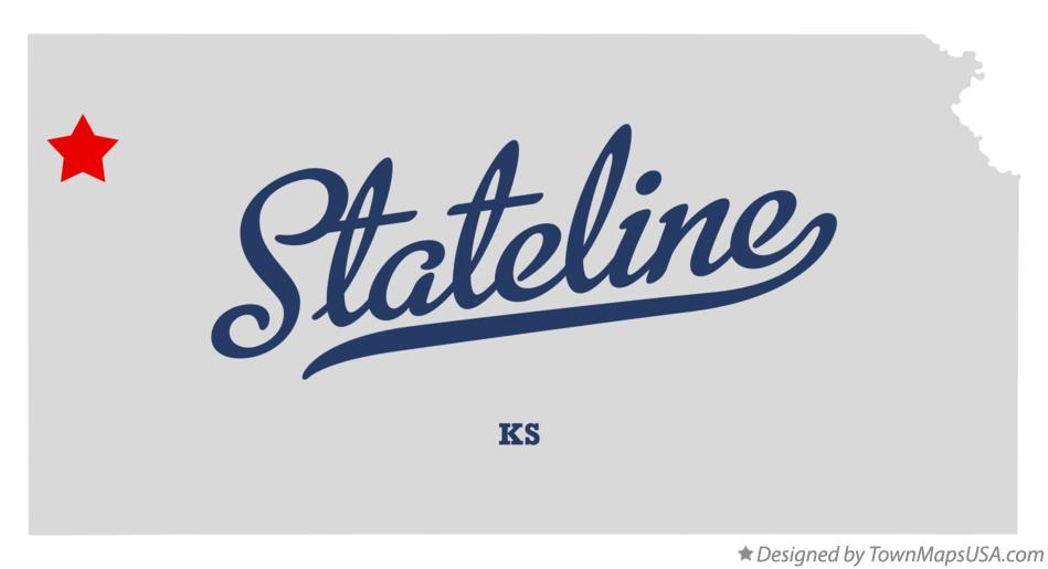 Map of Stateline Kansas KS