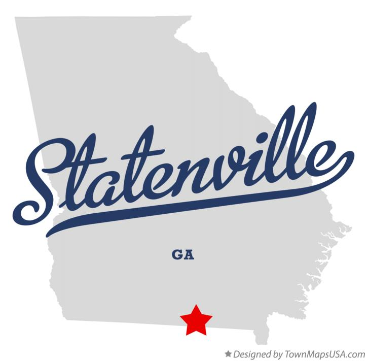 Map of Statenville Georgia GA