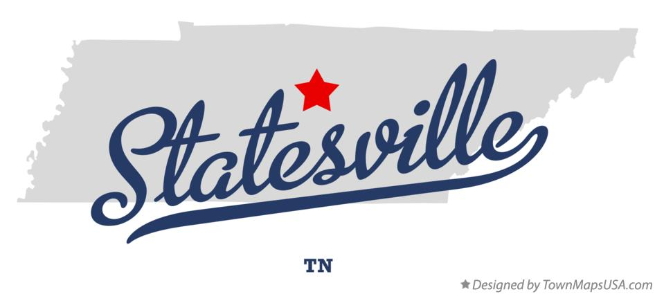 Map of Statesville Tennessee TN