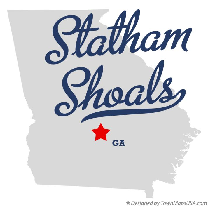 Map of Statham Shoals Georgia GA