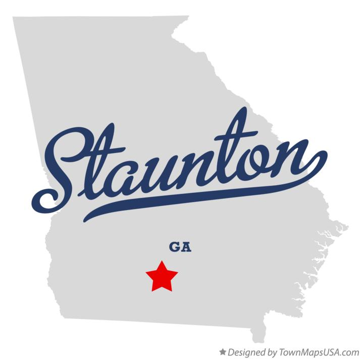 Map of Staunton Georgia GA