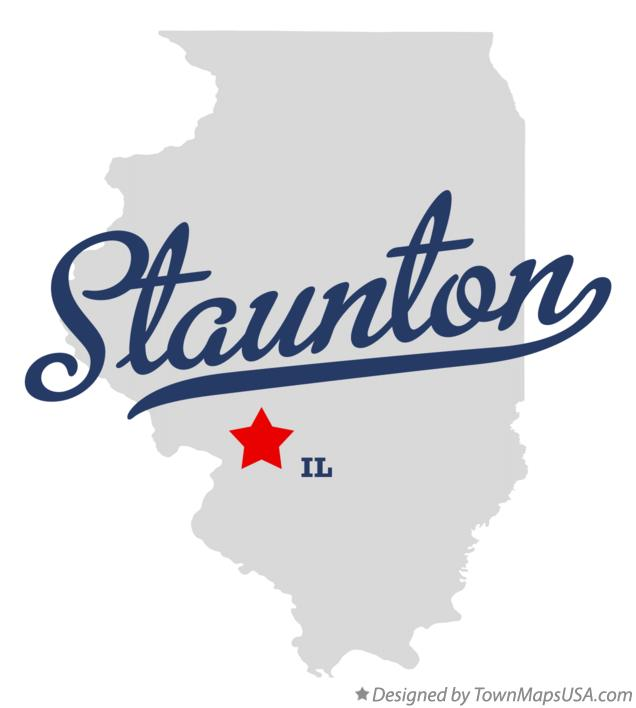 Map of Staunton Illinois IL
