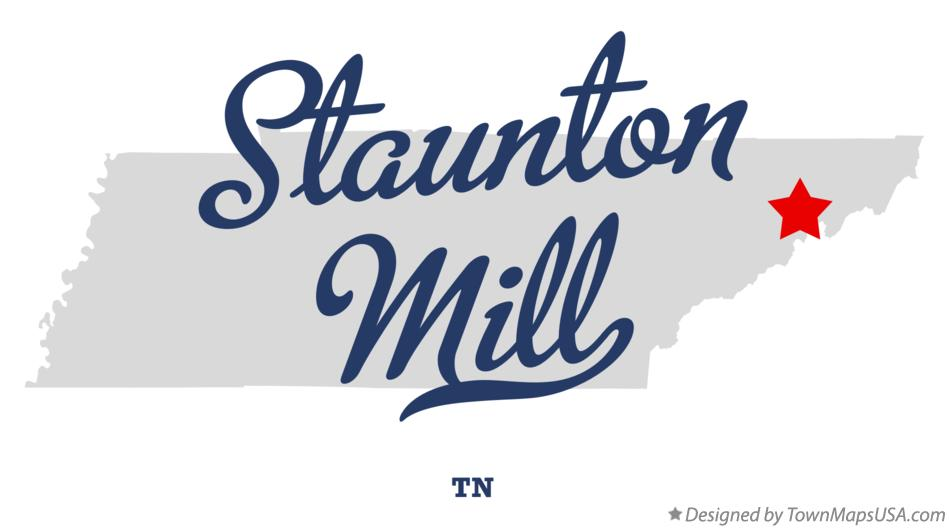 Map of Staunton Mill Tennessee TN