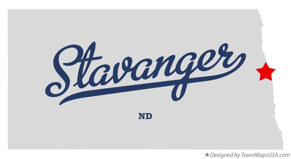 Map of Stavanger North Dakota ND