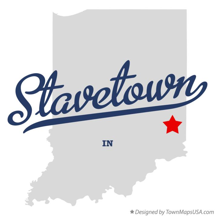 Map of Stavetown Indiana IN