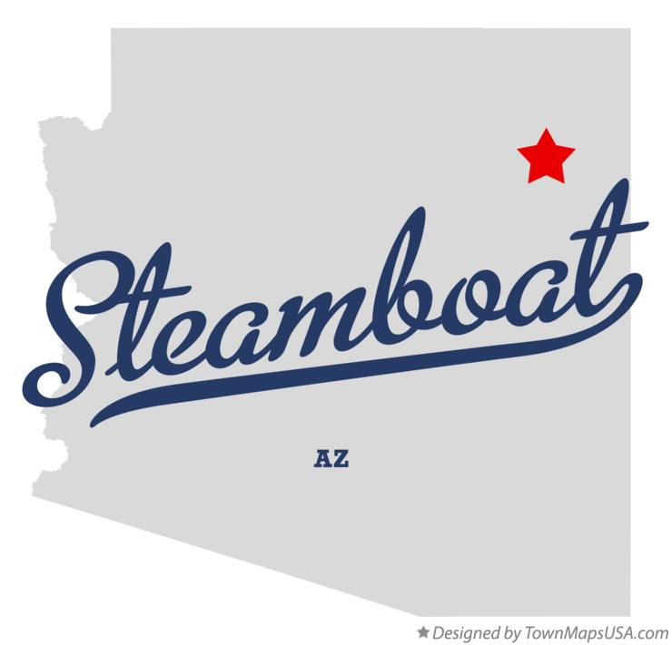 Map of Steamboat Arizona AZ