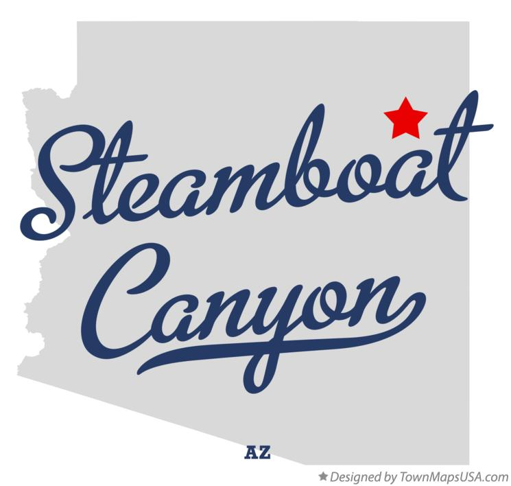 Map of Steamboat Canyon Arizona AZ