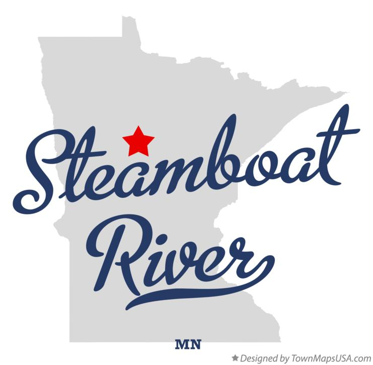 Map of Steamboat River Minnesota MN
