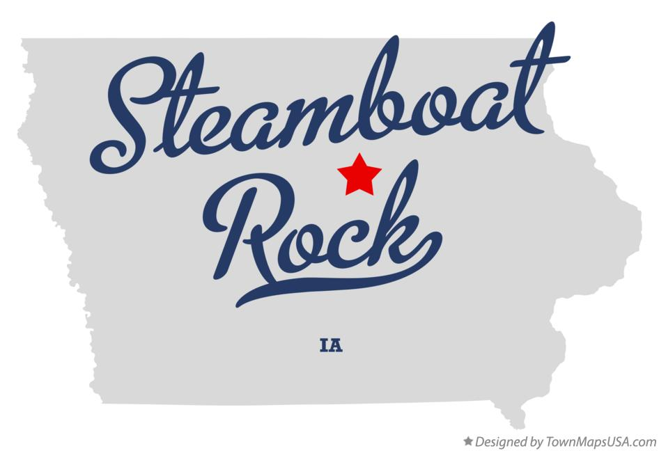Map of Steamboat Rock Iowa IA