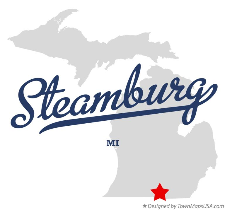 Map of Steamburg Michigan MI