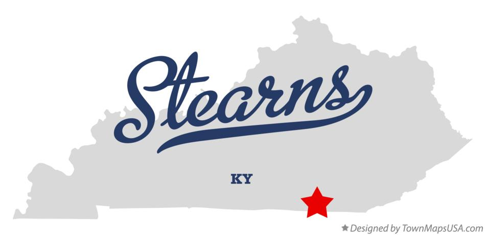Map of Stearns Kentucky KY
