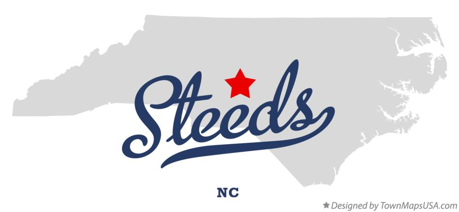 Map of Steeds North Carolina NC