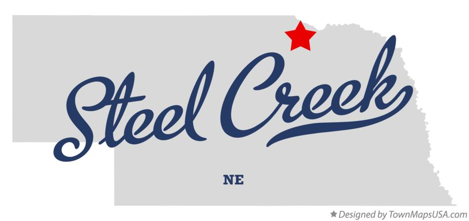 Map of Steel Creek Nebraska NE