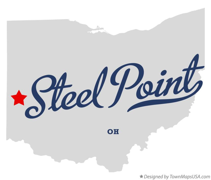 Map of Steel Point Ohio OH
