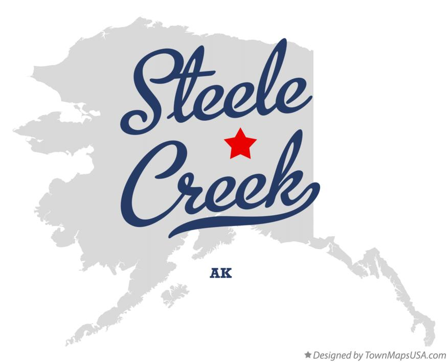Map of Steele Creek Alaska AK
