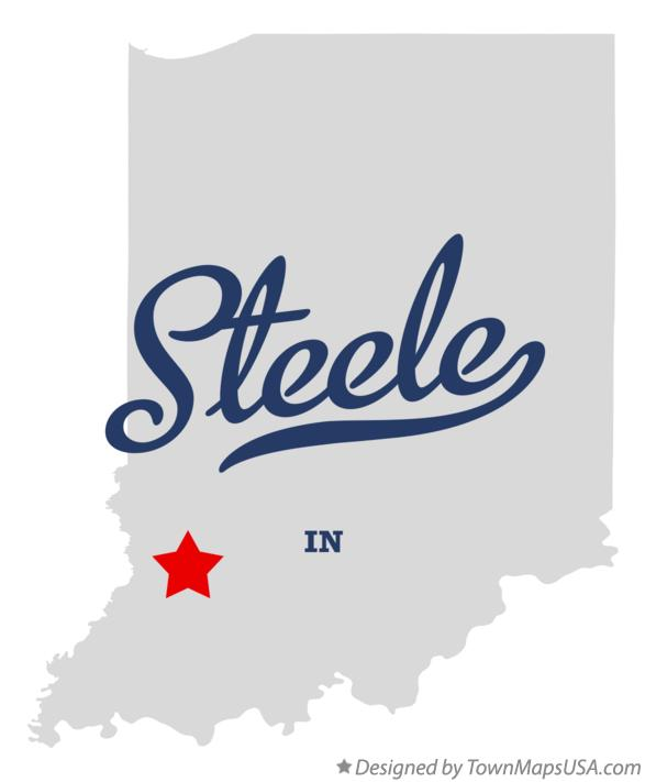 Map of Steele Indiana IN