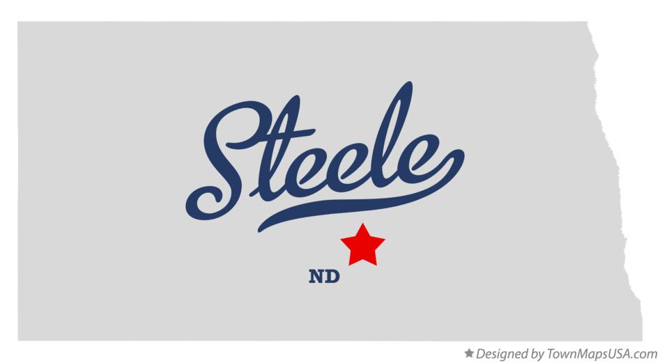 Map of Steele North Dakota ND