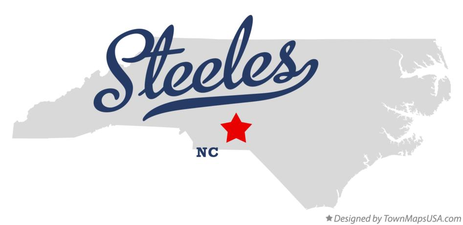 Map of Steeles North Carolina NC