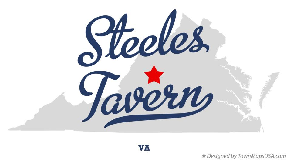 Map of Steeles Tavern Virginia VA